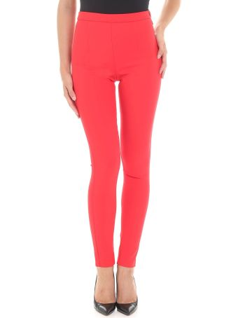 Patrizia Pepe Red High Waisted Trousers