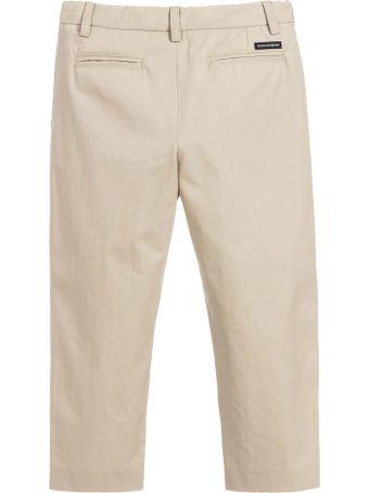 Dolce & Gabbana Beige Trousers Dolce&gabbana Kids