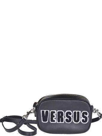 Versus Versace Embroidered Logo Shoulder Bag