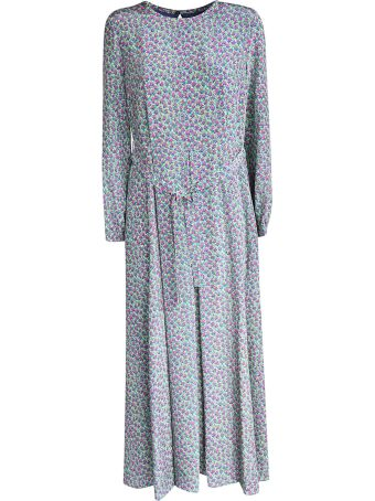 Weekend Max Mara Flower Print Long Dress