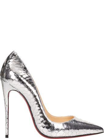 Christian Louboutin Silver Leather So Kate Decollete