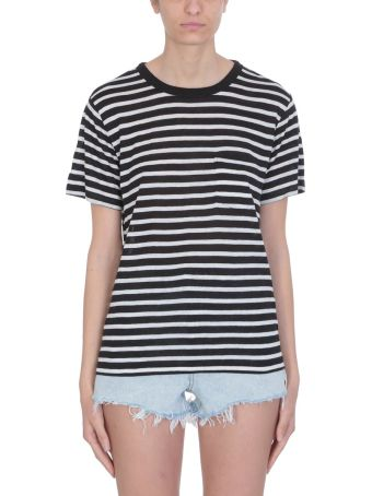 T by Alexander Wang Stripes Black And White Viscose T-shirt