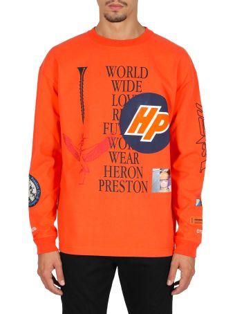 HERON PRESTON Ls T-shirt Reg Collage Golden Poppy