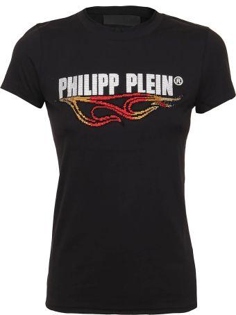 Philipp Plein T-shirt Round Neck Ss Destroyed