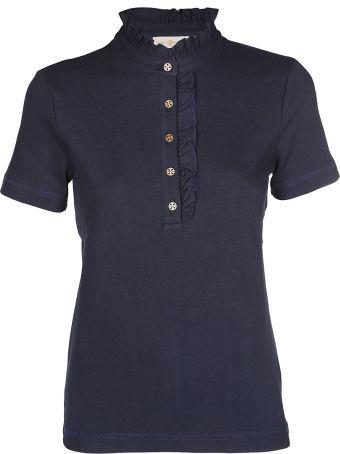 Tory Burch Frilled Polo Shirt