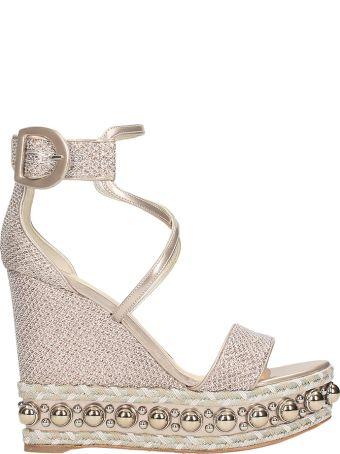 Christian Louboutin Chocazeppa 120 Glitter Wedge Sandals