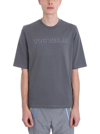Cottweiler Logo Grey Cotton T-shirt