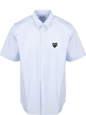 Comme des Garçons Play Short Sleeve Striped Shirt