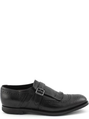 Church's Black Smooth Leather Shanghai Monk Shoes.