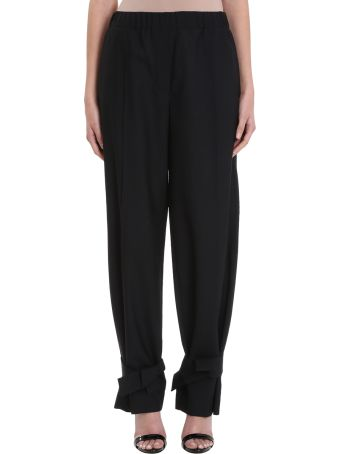 Maison Flaneur Black Wool Pants