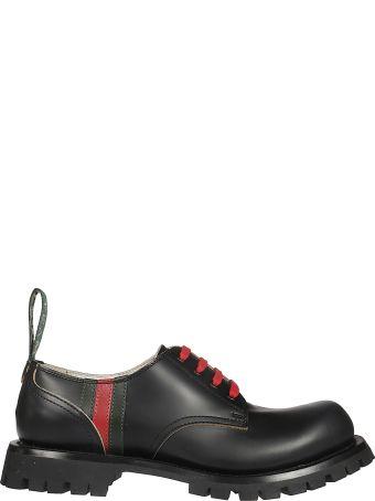 Gucci Signature Web Detail Derby Shoes