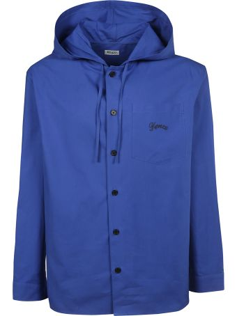Kenzo Buttoned-up Hooded Coat