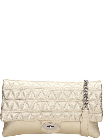 Marc Ellis Smooth And Quilted Gold Leather Maya Bag