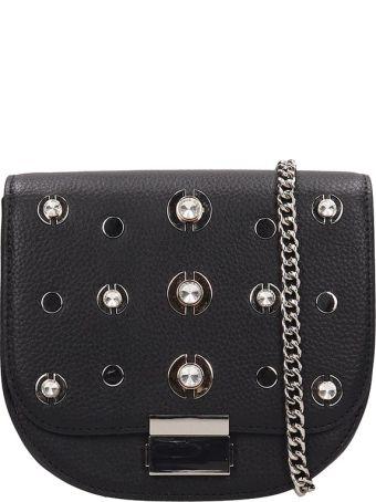 Lola Cruz Guss Black Leather Bag