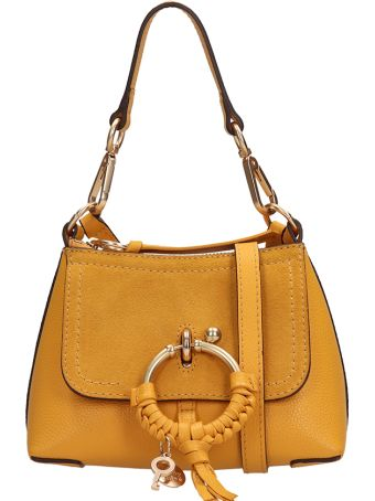 See by Chloé Yellow Leather And Suede Bag