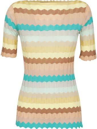 Roberto Collina Zigzag Knit Top