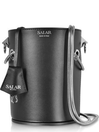 Salar Celia Leather Bucket Bag