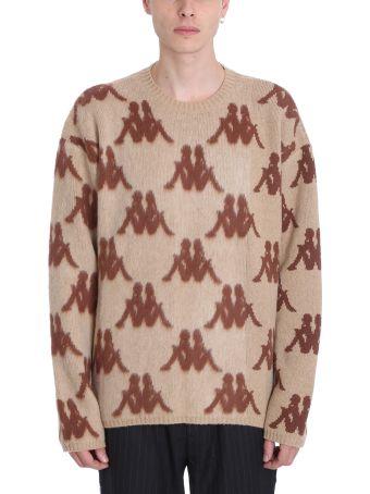 Danilo Paura x Kappa Beige Wool Sweater