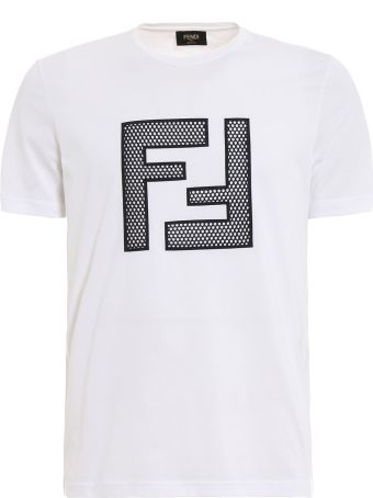 Fendi T-shirt Ff Mesh Light Jersey