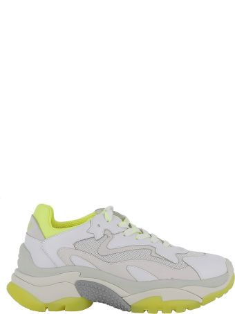 Ash White/yellow Leather Sneakers