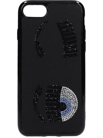 Chiara Ferragni Black Pvc Iphone 7-8 Cover