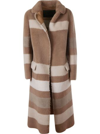 Blancha Striped Long Coat