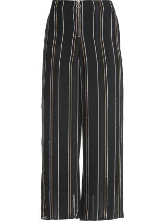 Proenza Schouler Crepe Striped Trousers