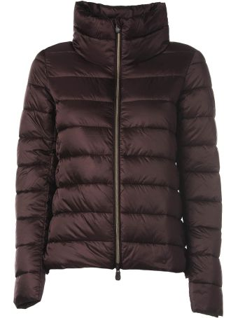 Save the Duck Burgundy Quilted Jacket