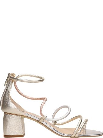 The Seller Silver Leather Sandals