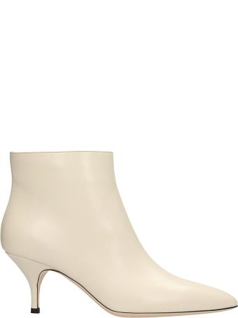Magda Butrym White Leather Germany Ankle Boots