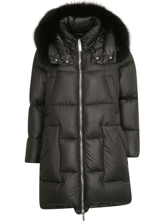 Moorer Fur Trim Padded Jacket