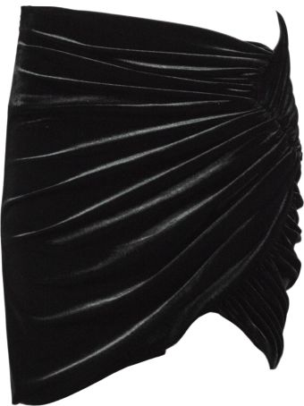 Alexandre Vauthier Black Velvet Mini Skirt.