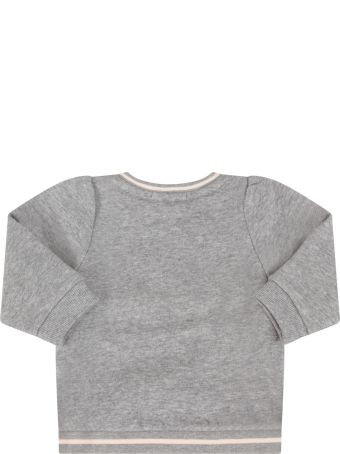 Chloé Grey Sweatshirt With Colorful Logo For Baby Girl