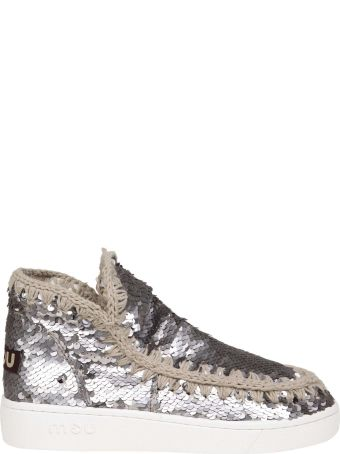 Mou Sneakers In Paillettes Color Anthracite