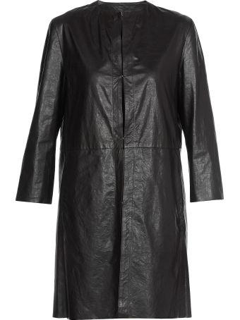 DROMe Leather Overcoat