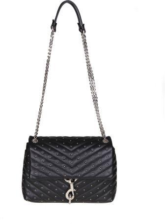 Rebecca Minkoff Bag Edie Flap In Black Leather