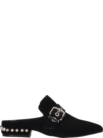 Jeffrey Campbell Black Suede Talega Flats Sandals