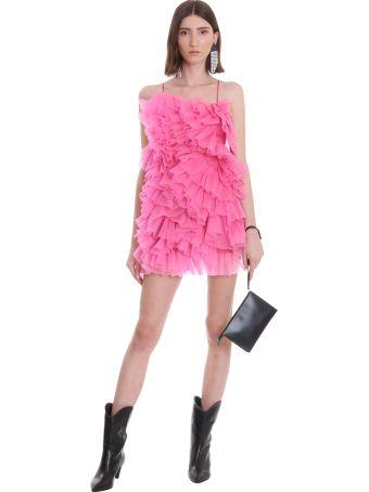 Laneus Dress In Rose-pink Cotton