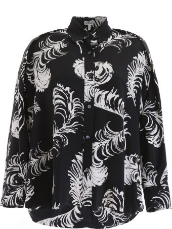 Loewe Feather Print Blouse