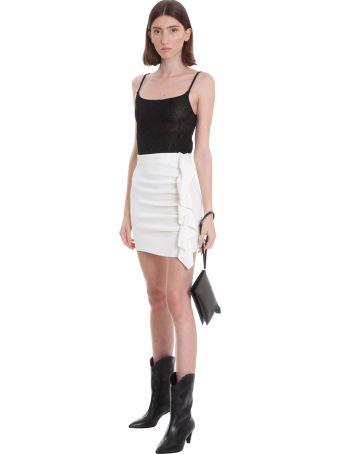 Laneus Skirt In White Cotton
