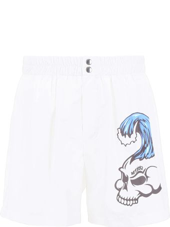 M1992 Skull Print Swim Shorts