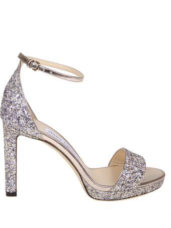 Jimmy Choo Sandal Misty 100 In Glitter