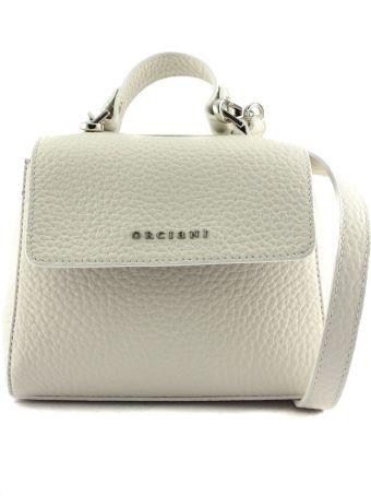 Orciani Sveva Mini White Leather Handbag
