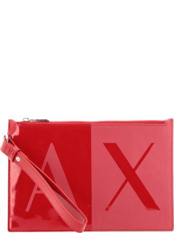 Armani Collezioni Armani Exchange Clutch Shoulder Bag Women Armani Exchange