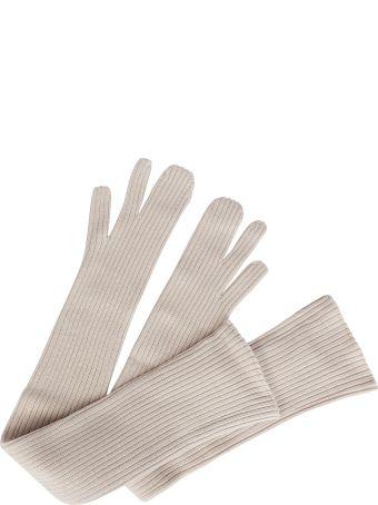 Maison Margiela Long Ribbed Gloves