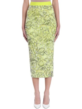 Y/Project Green Yellow Paisley Skirt