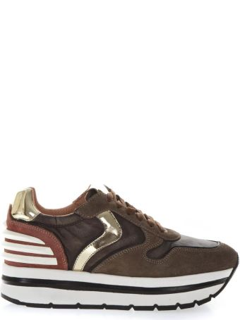 Voile Blanche May High Brown Suede & Nylon Sneakers