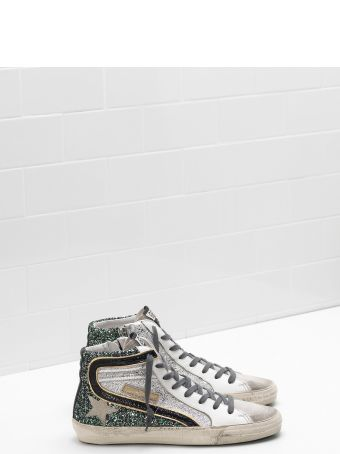 Golden Goose Sneaker Slide Gritter Green