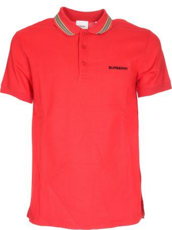 Burberry Icon Stripe Detail Polo Shirt