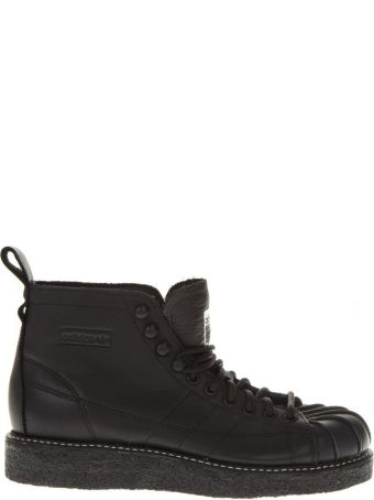 Adidas Originals Sst Luxe Black Lòather Sneakers